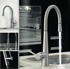 AA845 Nickel Brushed Spout Pull Out Kitchen Sink Mixer Tap Faucet