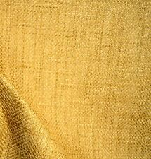 Gold Textured Upholstery Fabric Tweed Basket Weave