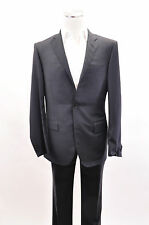 NWT $1495 Corneliani Mens 100% Extra Fine Virgin Wool Black 2Pc Suit Sz 48/38 US