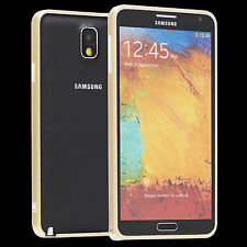 Samsung Galaxy Note 3 N9005 Metal Bumper Case Tasche Hülle Cover Etui gold A9