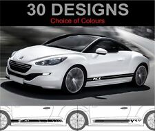 peugeot rcz side stripes decals stickers graphics both side