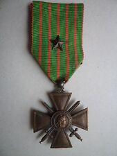 Croix de guerre 1914 - 1917 avec étoile de bronze - citation ordre régiment