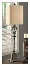 Old World Tuscan Bella Iron Buffet Table Lamp Distressed Finish French Country