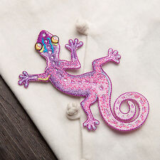 Gecko Lizard  Iron On Sewing Adhesive Embroidery Patch Embroidered