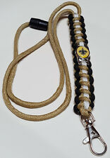 New Orleans Saints Gold, Black & White Paracord Lanyard OR Bracelet OR Key Chain
