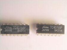 """TC4075BP   """"Original"""" Toshiba  14P DIP IC  2 pcs"""