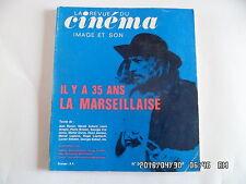 LA REVUE DU CINEMA IMAGE ET SON N°268 FEVRIER 1973 LA MARSEILLAISE    J66