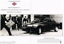 Publicité Advertising 1992 (2 pages) Nissan Primera GT par max Vadukul