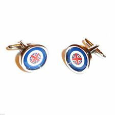 Roundel with Union Jack Cufflinks in Gift Box X2PSN176A