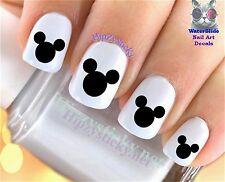 "RTG Set#630 IMAGE ""Mickey Mouse Ears Black"" WaterSlide Decals Nail Art Transfers"