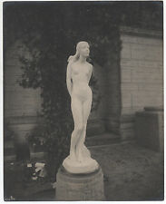 Large 1915 PPIE World's Fair San Francisco Photo of Statute of Nude Woman