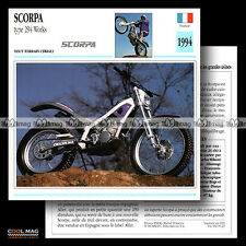 #095.20 SCORPA TYPE 294 WORKS 1994 Fiche Moto Motorcycle Card