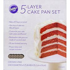 Wilton Easy Layers 5 Piece Multilayer classic Recipe Cake Pan Cooking Set 6 Inch