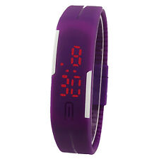 Unisex LED Sports Watch Watches Bracelet Digital Wristwatch Purple