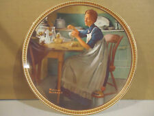 "Norman Rockwell ""Working in the Kitchen""Limited Edition  Collector Plate"
