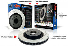 DBA T2 Slotted Rotors 504S X 2 & Bendix HD Pads Front Set To Suit Ford BA BF FG