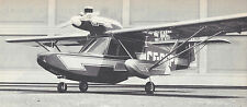 1/6 Scale Falconar Teal Amphibious Airplane Plans, Templates and Instructions