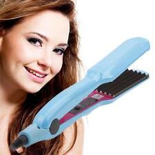 Hair Crimper Crimping Wave Iron Ceramic Titanium Plate Waver Plug US Plug