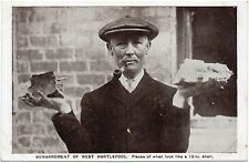 P.C Bombardment Of West Hartlepool Man Holding Piece Of Shell Dec 1914 Durham