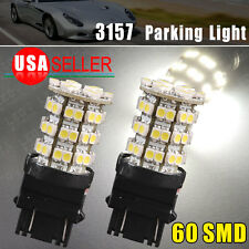 2 X New 3157 HID White 60SMD LED Car Parking Light 3057A 3457A 3157 4157NA 3757A