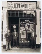 Radio & Television Shop Display Frontage - Vintage Photograph c1930's