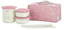 Miffy Lunch Box Bag Set Bento Food Container Jar Pink ❤ Thermos Japan