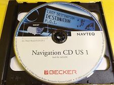 FERRARI NAVIGATION  FERRARI BECKER WEST US CD1 sach-Nt 1623.36 NAVTEQ #CD164