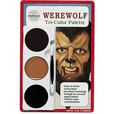 Mehron Tri-Color Palette Werewolf Professional Makeup Kit