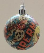 Decoupaged DC comics Christmas tree baubles. Each one hand crafted & different.