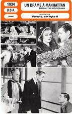 FICHE CINEMA : UN DRAME A MANHATTAN - Gable,Powell,Loy 1934 Manhattan Melodrama