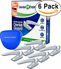 6 Pack Mouth Guard with Free Case Clenching Night Guard Moldable Mouthguard