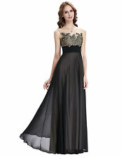 Women Chiffon Long Evening Ball Gown Formal Bridesmaid Prom Party Cocktail Dress
