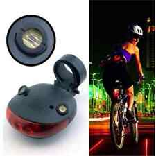 5 LED+2 Laser Ciclismo Parte Trasera Cola Seguridad Advertencia Flash Lampara