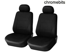 FRONT 1+1 BLACK FABRIC SEAT COVERS PEUGEOT 206 307 407 208 308 1007 MPV 3008