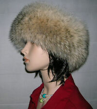 NEW COYOTE FUR HEADBAND NECK WRAP SCARF