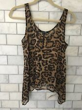 Leopard Print Tank Top Blouse Forever21 Sz Small Women's Blouse