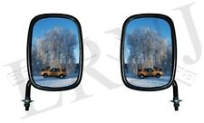 "LAND ROVER SERIES 2 / 2A & SERIES 3 EXTERIOR MIRROR HEAD 7""X 5'' AND ARM 7"" SET"