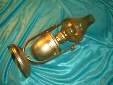 Antique Oil Lamp boat yacht cabin table sconce brass & glass hurricane shade 10