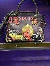 Wow ! Stunning  Picture  Bag From Los Angeles ! With Detachable Long Strap