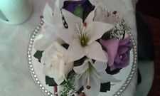 FLOWER WEDDING CAKE TOPPER or TABLE CENTRE PIECE DECORATION *ANY COLOUR ROSES*