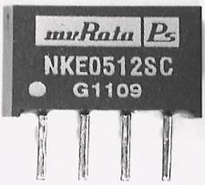2 x Murata NKE0512SC 1W Isolated DC-DC Converter Vin 4.5 - 5.5 VDC, Vout 12V DC