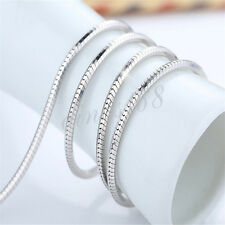 """925 Sterling Silver 20"""" Graceful 2.0mm Wide Shiny Snake Chain Necklace H160"""