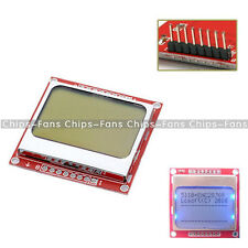 84x48 Nokia LCD Module Blue Backlight Adapter PCB Nokia 5110 LCD For Arduino CF