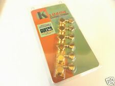 GENUINE KLUSON  REVOLUTION KFTL-3805GL RH F MOUNT 6 INLINE LOCKING TUNERS GOLD