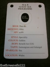 BEER PUMP CLIP INFO CARD - OTLEY THAI-BO
