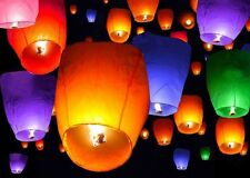 50 Chinese Paper Sky Flying Wishing Lantern Lamp Candle Party Wedding Mix Colors