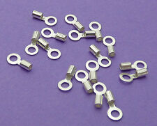 1.5mm Loop & 0.9mm Internal Crimp Dia 925 Sterling Silver Chain End Cap Crimp 6