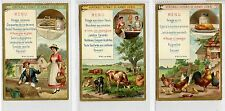 Full Set, Liebig (OXO) S245, Dinner menus (X6) 1889 VG-EX (Gu696-322)