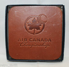 Air Canada Championship PGA Tour Golf Set of 6 Leather Coasters Souvenirs (A)