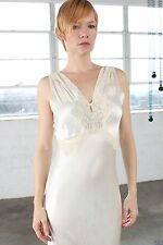 Vintage 1930's Nightgown Lingerie Maxi Dress Small in Vintage White by Weisman